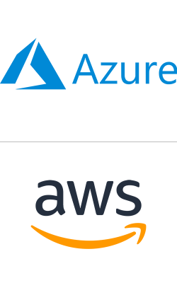 Loghi MS Azure e Amazon AWS