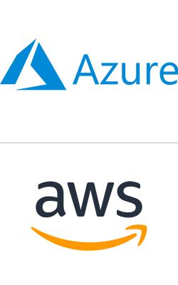 Loghi MS Azure e Amazon AWS